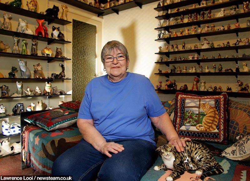 Коллекция керамических кошек, насчитывающая более 2200 фигурок: Бирмингем, Англия