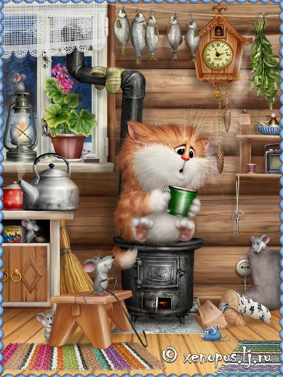 Живые открытки коты алексея долотова